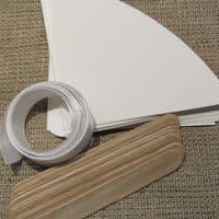 Φτιάξτο Μόνος Κιτ για Χάρτινες Λευκές Βεντάλιες Συσκ. 30 τμχ. / DIY kit for White Paper Hand Fans Pack of 30